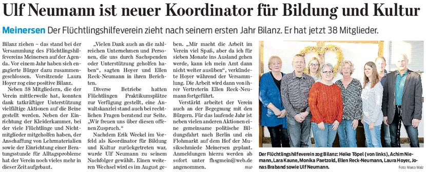 Gifhorner Rundschau vom 28.3.2017