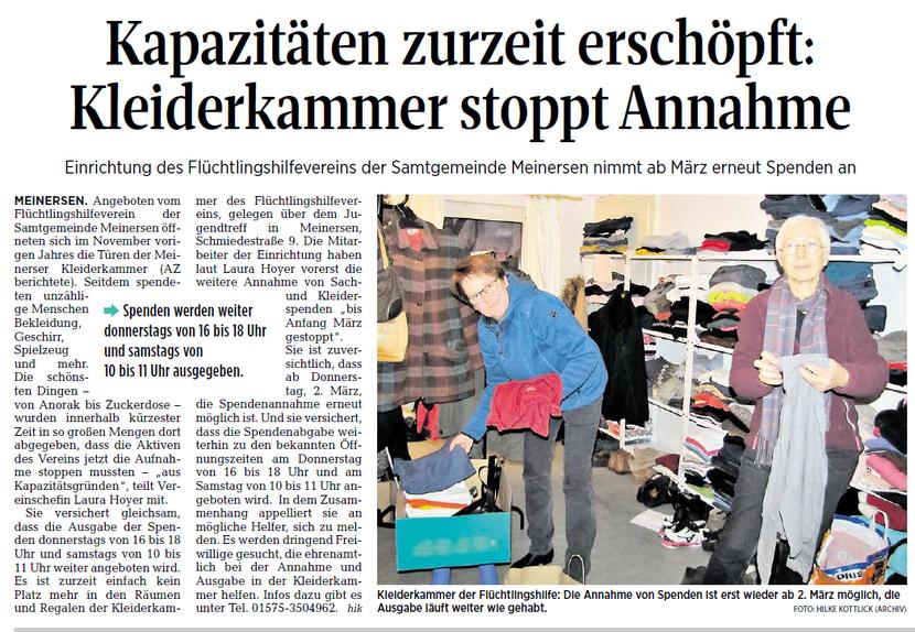 Aller-Zeitung vom 1.2.2017