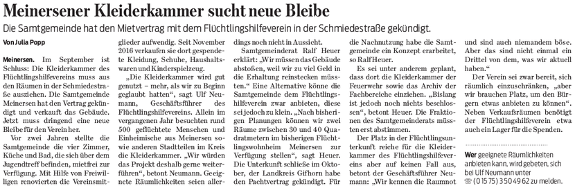 Gifhorner Rundschau vom 13.3.2018