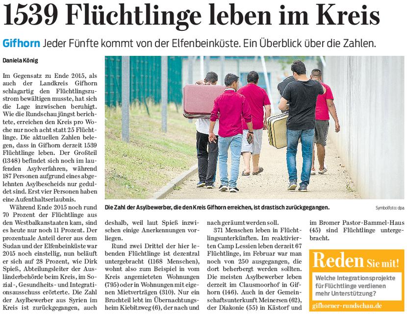 Gifhorner Rundschau vom 5.5.2017