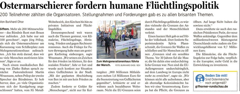 Gifhorner Rundschau vom 23.4.2019