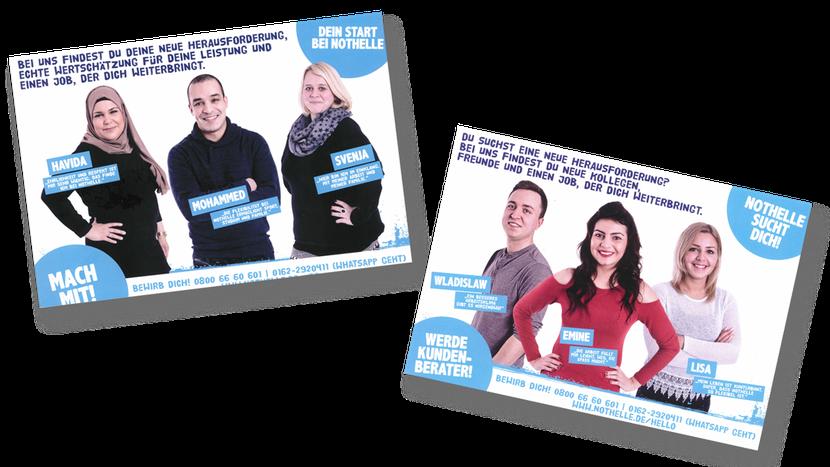 Fotos für Recruiting-Kampagne für div. Printprodukte