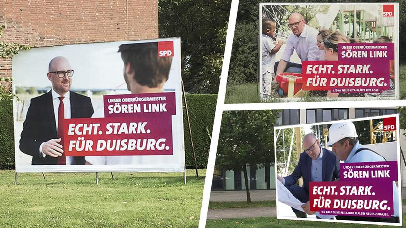 Lieferung von des gesamten Bildmaterials für den OB Wahlkampf von Sören Link (Leadagentur H2M)