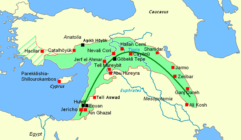 Insediamenti nella Mezzaluna Fertile nell'VIII millennio a.C.