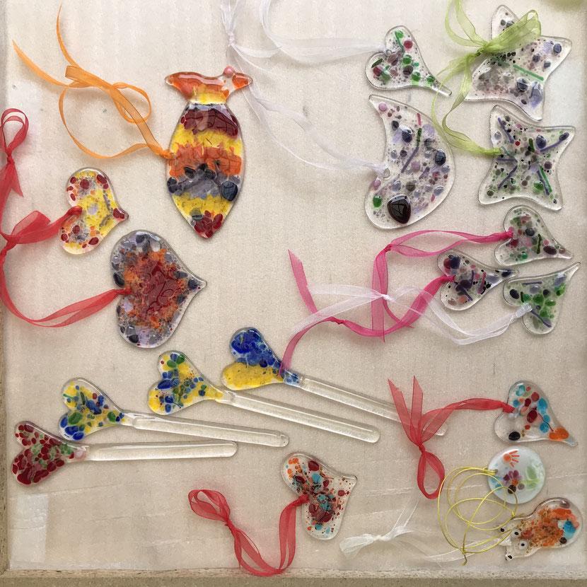 #wünschebox #diy #bastelnmitkids #bastelideen #fusedglass #glassfusing #bastelnmitglas #handmade, coronaferien, glaskunst, KatjaStade, Brühl