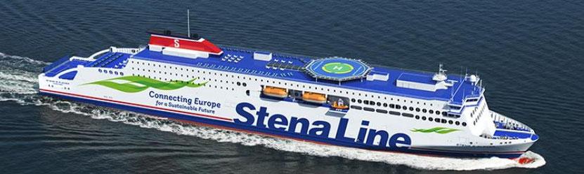 Vue d'artiste d'un navire de la E-Flexer Class de Stena Line, dont l'un d'entre eux sera affreté par Brittany Ferries