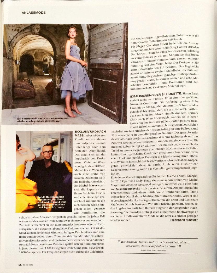 Juergen Christian Hoerl in der Mai-Ausgabe der österreichischen Textilzeitung Mode Fashion JCH