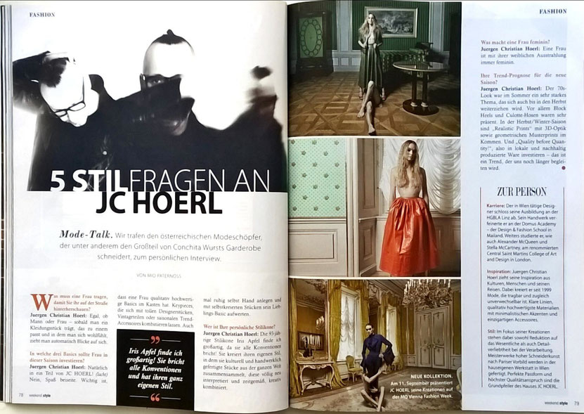 Fashion JCHOERL Weekend Magazin Albertina