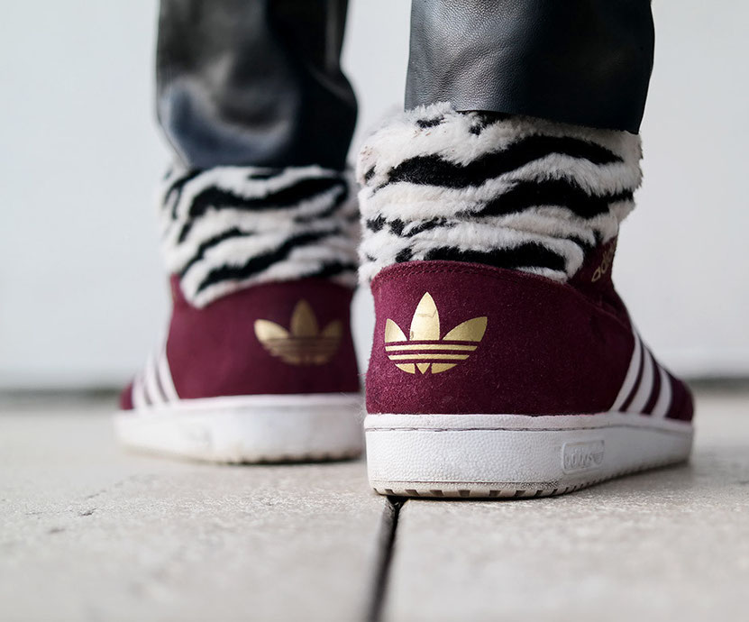 Adidas Conference Hi Burgunder Zebra Look | hot-port.de | 30+ Blog