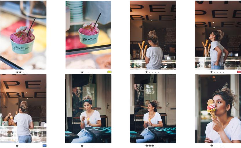 Kill Your Darlings - Welke foto is het best? - Print Screen van foto's door Landa Penders