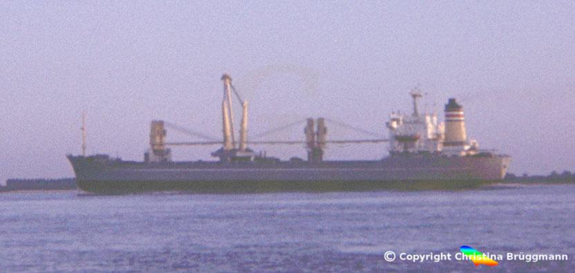 """Deutsche Afrika Linien Mehrzweckfrachter """"TABORA"""" 1983"""