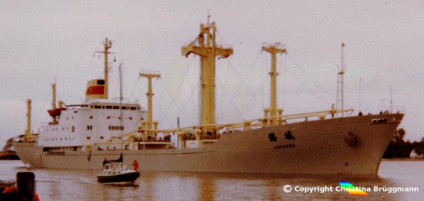 Stückfrachter LUCHENG, Nord-Ostsee Kanal 1990