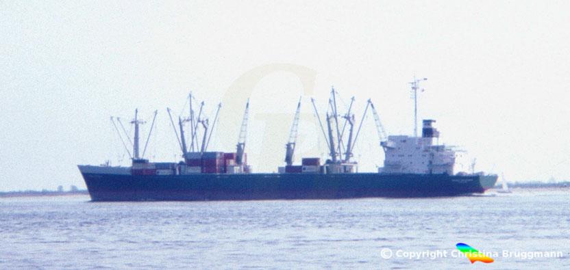 RENEE RICKMERS, Mittelschiffsektion aus Umbau Hapag-Lloyd  LUDWIGSHAFEN mit neuen Bug und Heck 1983