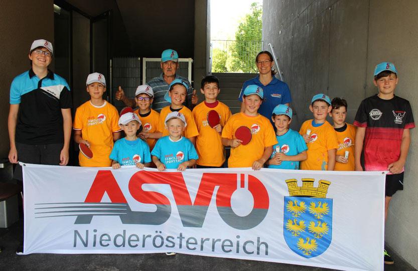 Ein großer Erfolg war das dreiteilige Ferienspiel des TTV Sierndorf im Sommer 2021. Sogar ASVÖ-Landesfachwart Helmut Faltinger besuchte uns dabei.