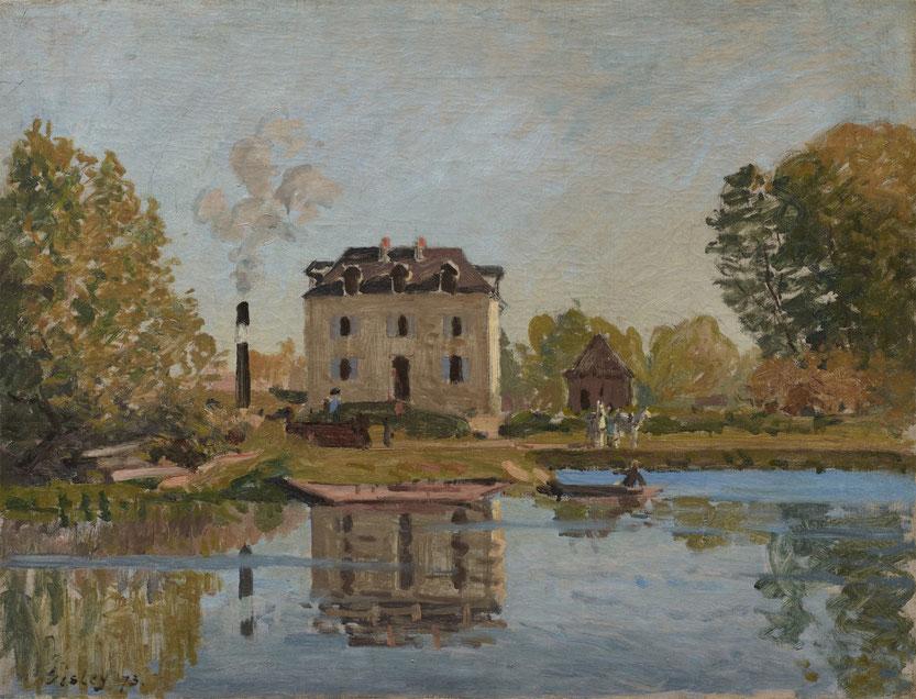 Alfred Sisley: Die Überschwemmung. Das Seineufer in Bougival. Ordrupgaard, Kopenhagen. Copyright Foto: Anders Sune Berg/PR