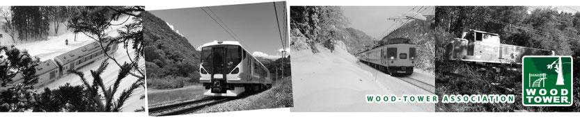 ウッドタワー工法による近接木伐採で安全運行が確保された鉄道