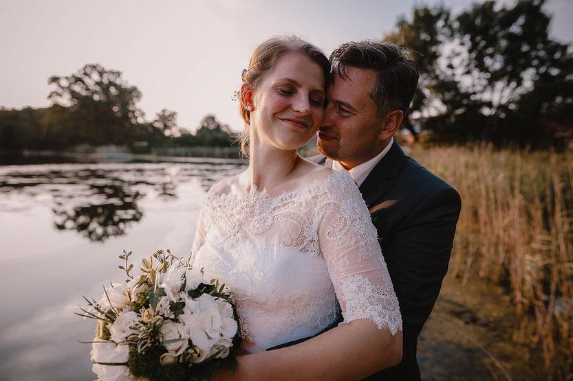 Brautpaarshooting auf Steg