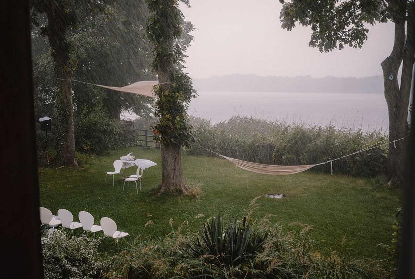 Starkregen Hochzeit