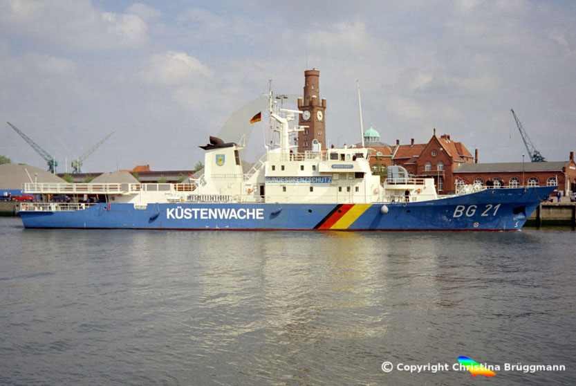Bundesgrenzschutz Küstenwachboot BREDSTEDT BG 21, Cuxhaven 1997