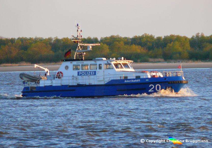 Polizeiboot AMERIKAHÖFT WS 20, Elbe 02.05.2015