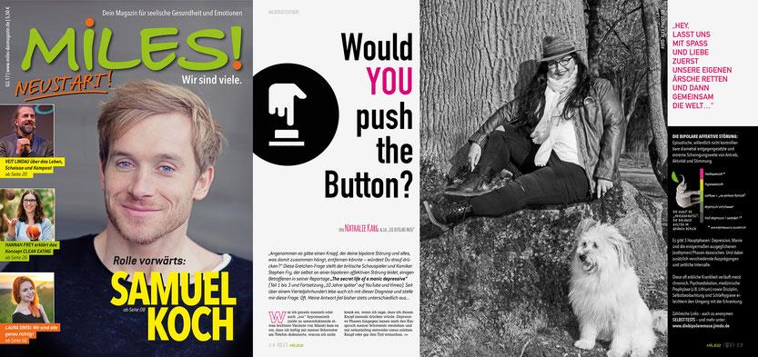 Seit dieser Ausgabe bin ich Kreativ-Directrice und stellvertretende Chefredakteurin an der Seite von Gründer Marcus Jäck.