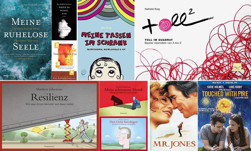 Meine kleine Top-Auswahl: Bis auf mein Buch sind alle Medien unter anderem über amazon zu beziehen.