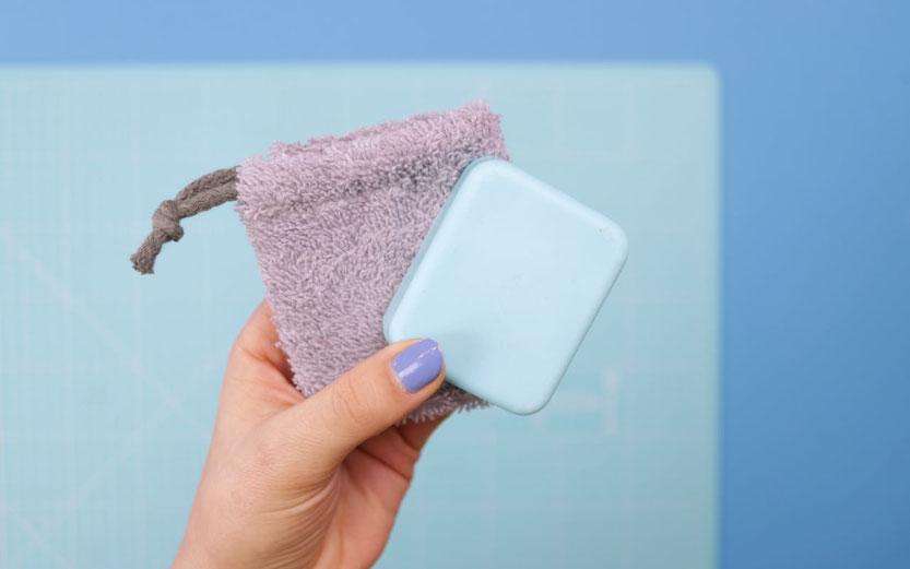 10 DIY Ideen aus Stoffresten – DIY Eule: Seifensäckchen aus Frottee nähen Stoffreste