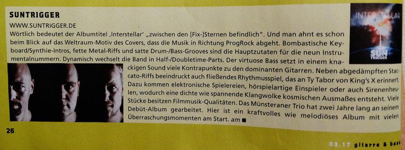 CD Bericht in der Gitarre & Bass 02/17