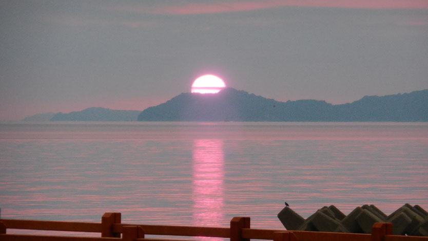 周防大島からの朝日