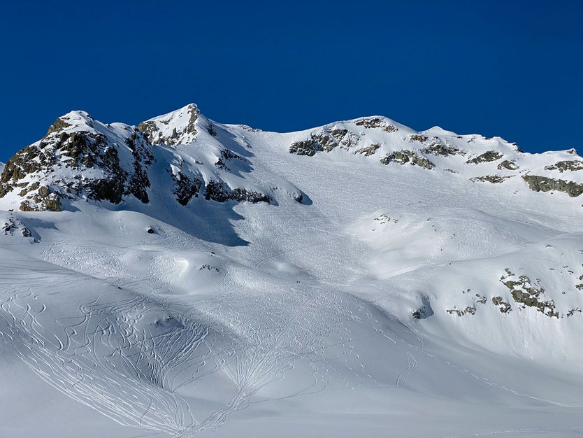 Skitour Piz Lagrev, Engadin, Schweiz