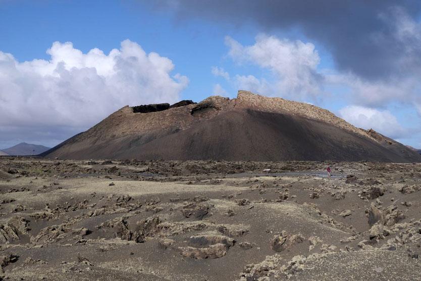 Einfache Vulkan-Wanderung Caldera de los Cuervos Lanzarote