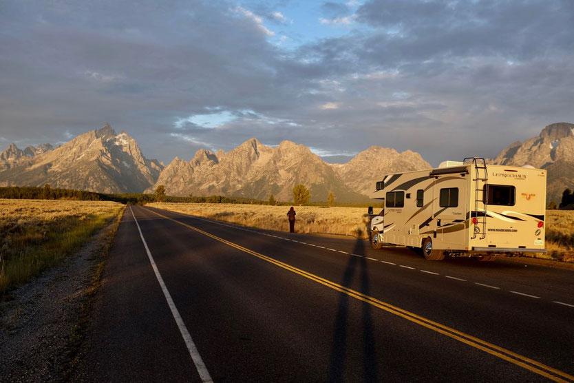 Grand Teton Nationalpark USA mit dem Wohnmobil