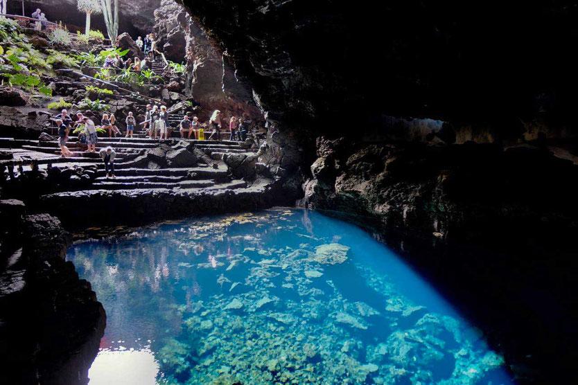 Jameos del Agua Cesar Manrique Lagune Grotte Krebse Vulkanhöhle Lanzarote