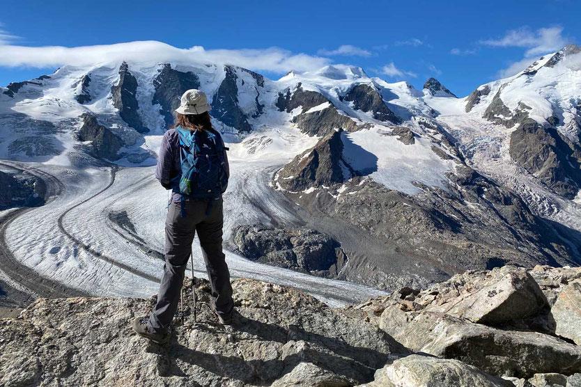 Wanderung Munt Pers - Blick in die Berninagruppe
