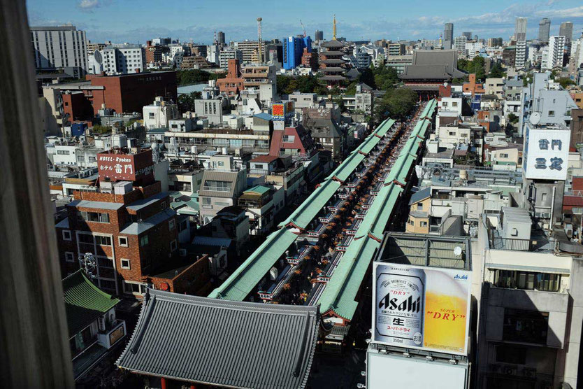 Nakamise Edo Einkaufsgasse Senjo-ji Schrein Tokyo