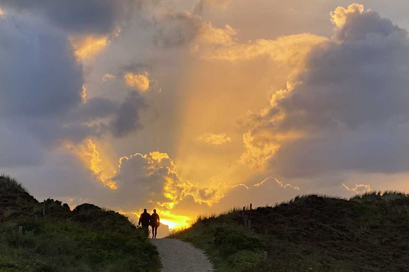 Sylter Sonnenuntergang Dünen Reiseblog