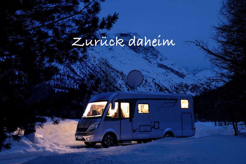 Winter Camping im winterfesten vollintegrierten Wohnmobil Hymer ML-I 570