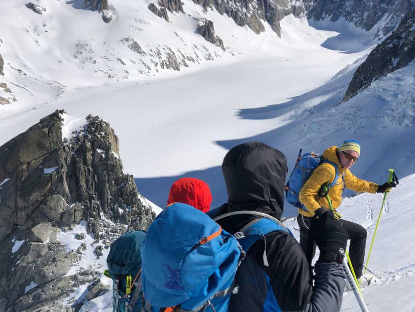Skitour Glacier d'Argentière