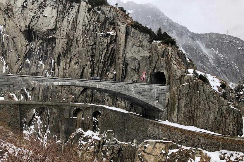 Schöllenschlucht Teufelsbrücke bei Andermatt