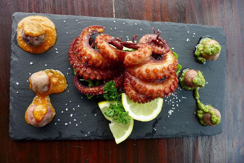 Restaurant Tipp El Chupadero La Geria Lanzarote grilled Octopus