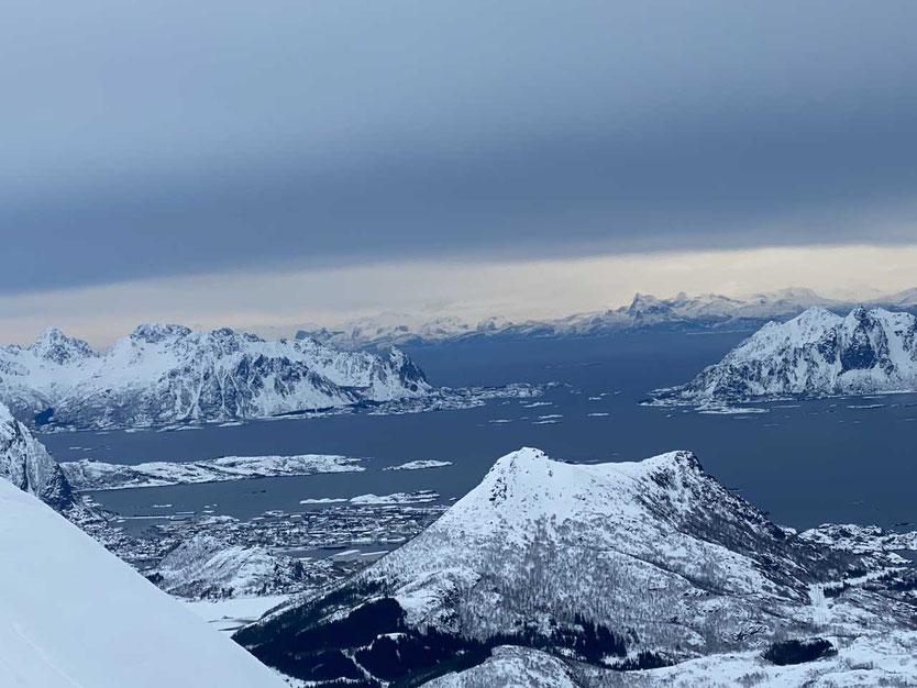 Norwegen Lofoten Skitour Vestfjord