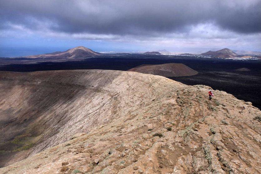 Lanzarote Vulkanwanderung Kraterrand Caldera Blanca Lanzarote