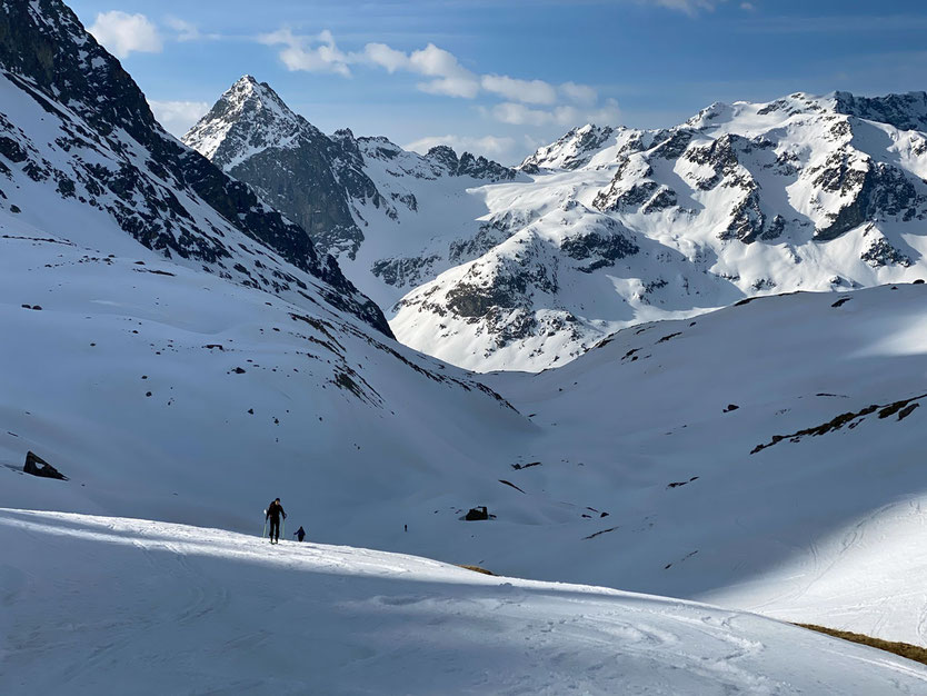 Juliertal, Skitour Piz Surgonda, Engadin, Schweiz