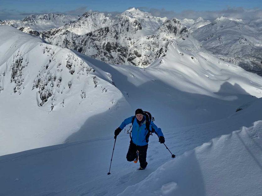 Norwegen Lofoten Skitour Viktinden