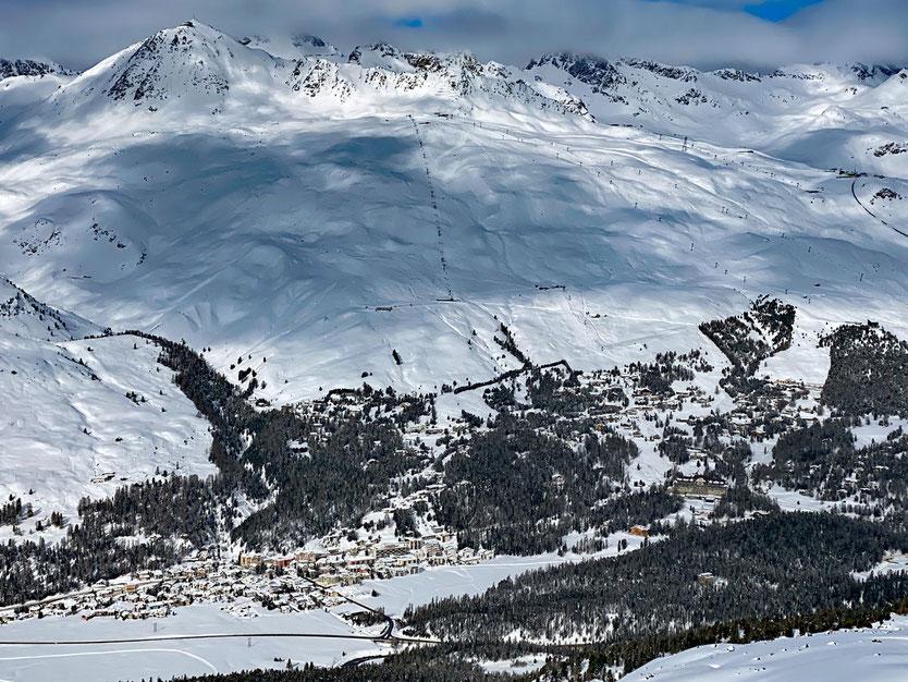 Champfer und Suvretta Milliardärshügel - Engadin, Schweiz