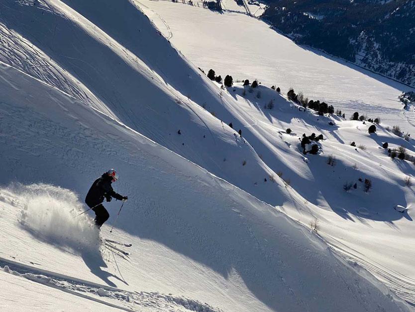 Skipiste St. Moritz Engadin