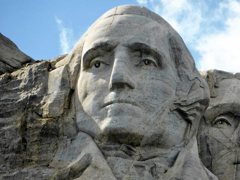 George Washington Kopf Mount Rushmore South Dakota