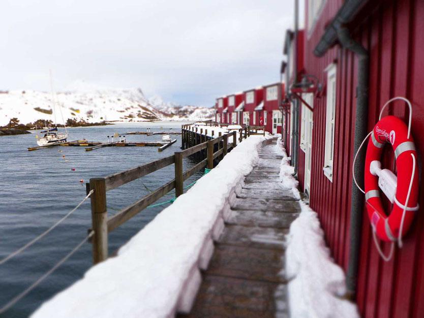Norwegen Lofoten Ski Lodge Kabelvag