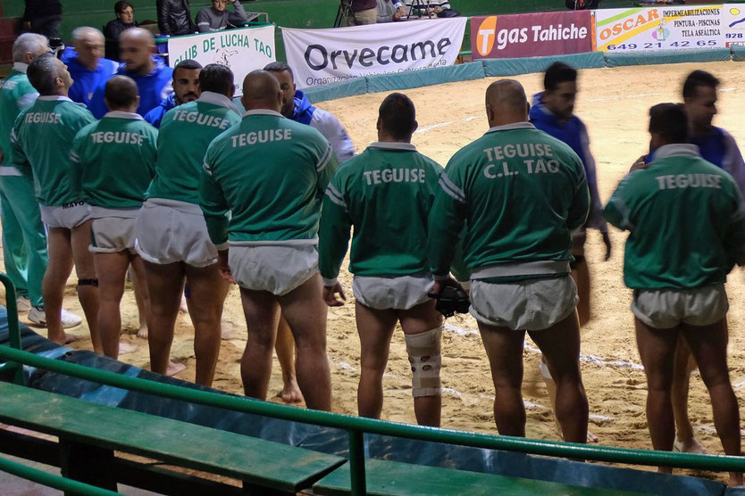 Luchadores Lucha Canaria Ringkämpfer auf Lanzarote