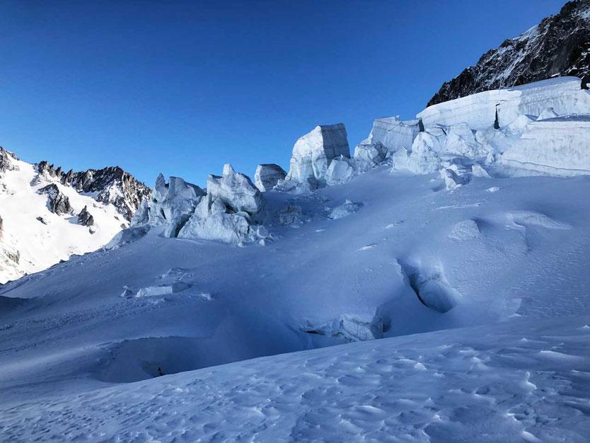 Argentiere - Eisbruch Rognons Gletscher
